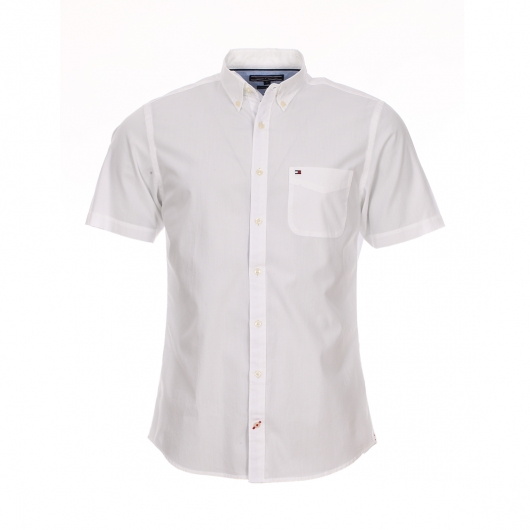 chemise droite manches courtes tommy hilfiger