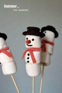 Des brichettes d bonbons hivernales