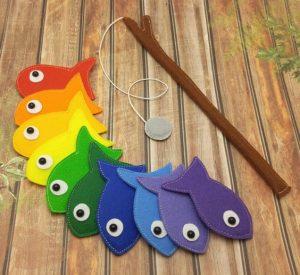 Une pêche à la ligne faite maison